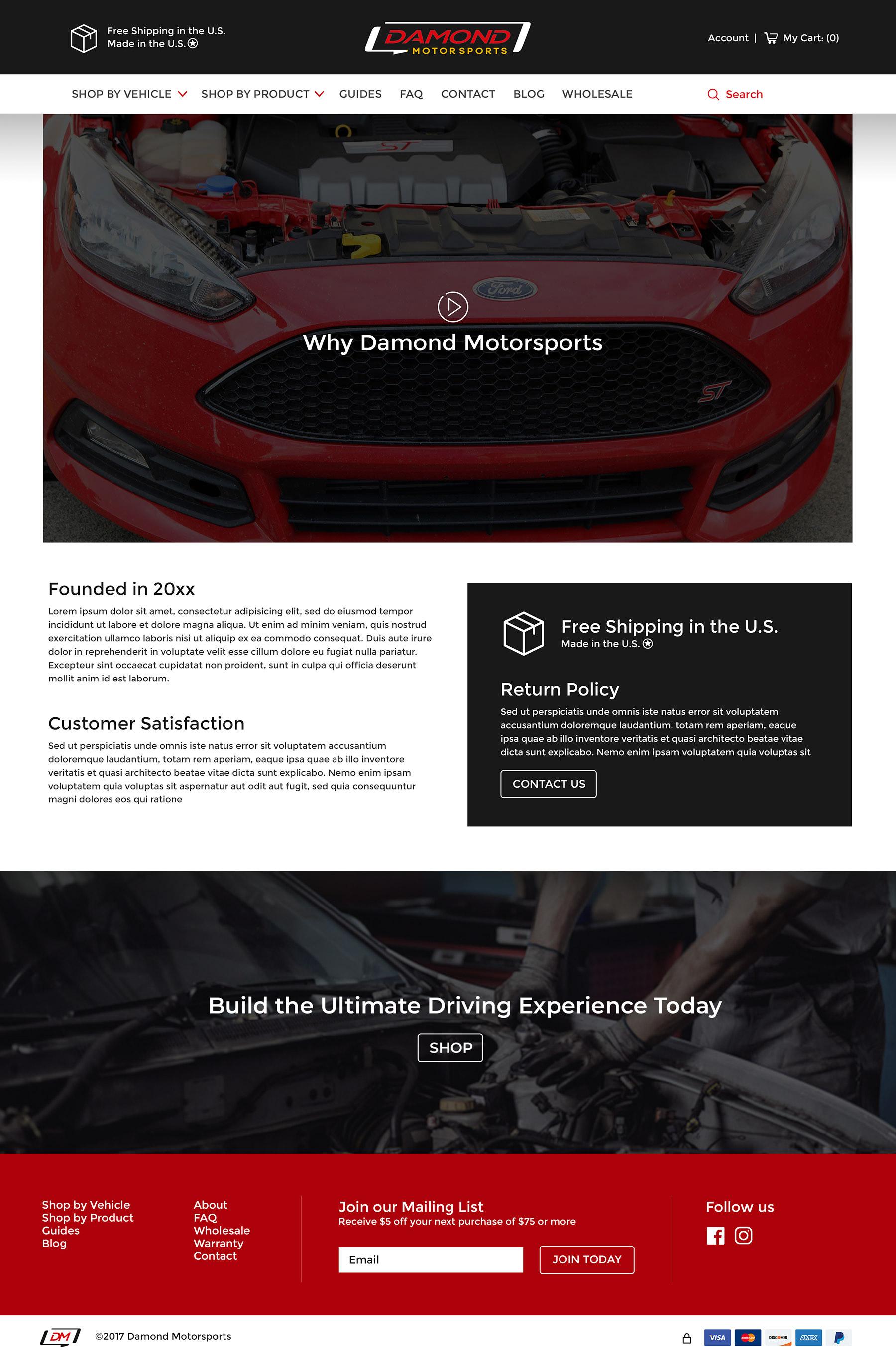 Damond Motorsports About Page