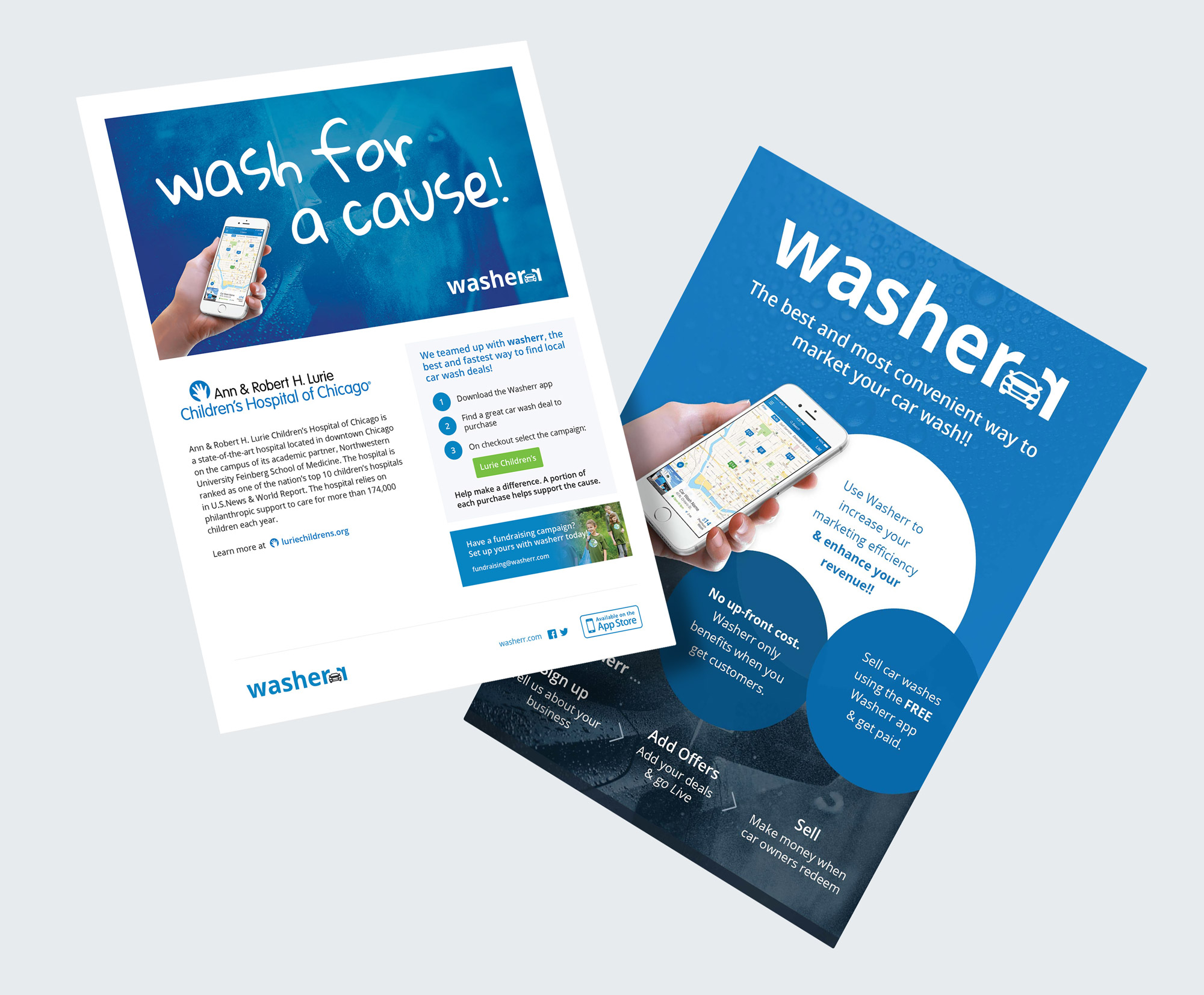 Wash for a cause flyer