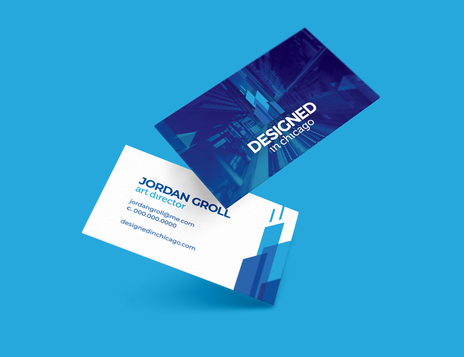 Designed In Chicago Business Cards