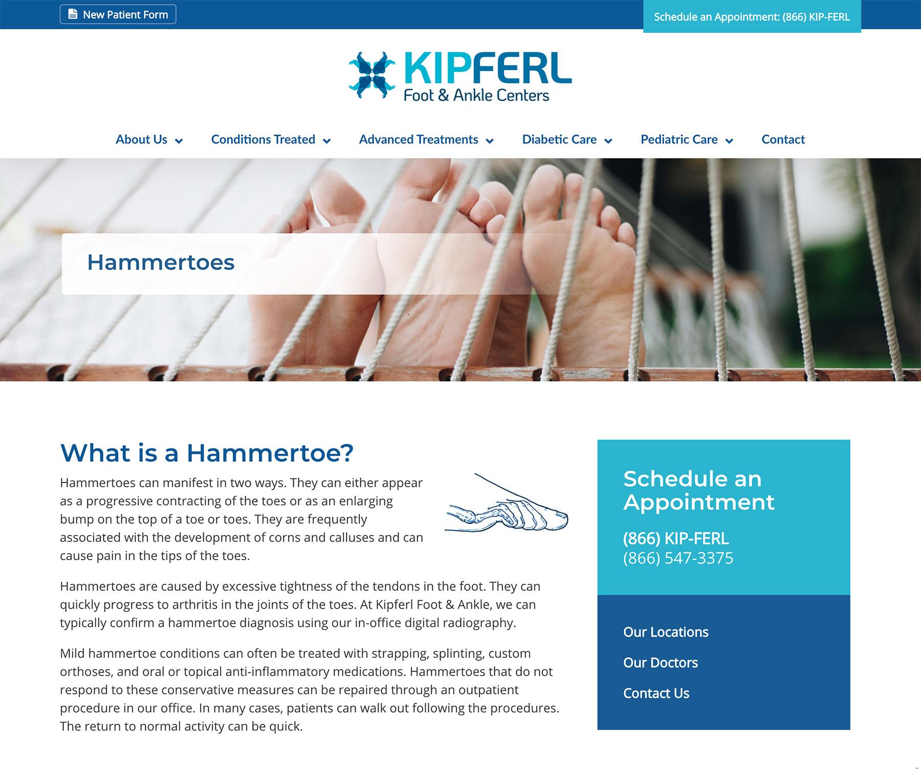 Kipferl Hammertoe Page